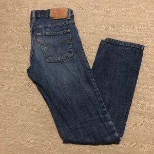 Levi's 510 skinny jeans distressed blue size 10